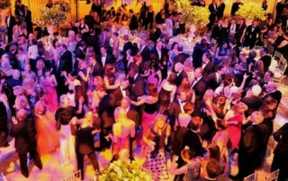 Gala crowd enjoying and dancing at the event
