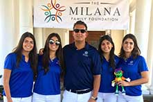 Milana Family Foundation Team with Simon