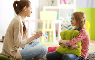 Child Receiving Care for Her Mental Health